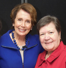 Gilda with Representative Nancy Pelosi